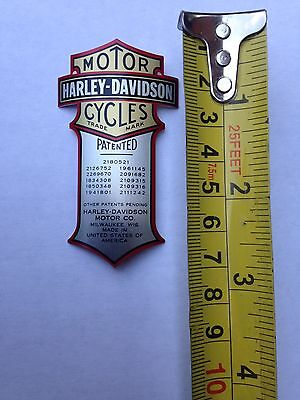 Harley Patented Curved Decal Metal Emblem FXSTS Springer Shock Heritage Springer