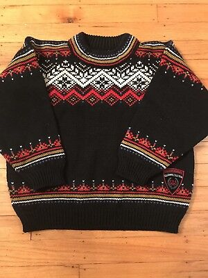 Dale of Norway US Olympic Collection Kids Sweater Sz 6 100% Wool/Norwegian