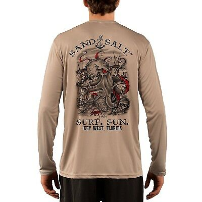 9a3b9ddf487 Key West Octopus Treasure Men s UPF 50+ UV Sun Protection Long Sleeve T-