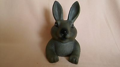 VINTAGE 1970,s PLASTIC TOY RABBIT MONEY BOX WITH JUST A OPENING AT THE BOTTOM.