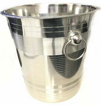 Champagne Bucket Ice Wine Cooler Handles Bar Pub Party Wedding Table Serving BBQ