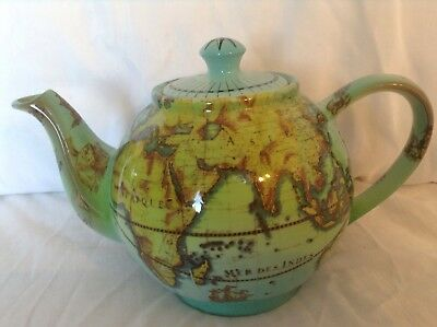 Cardew Collectible Novelty  Large Terrestrial Globe Teapot Perfect Condtion