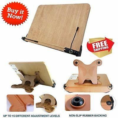 Large Book Stand Reading Cookbook Heavy Duty Storage Adjustable Textbook Holder