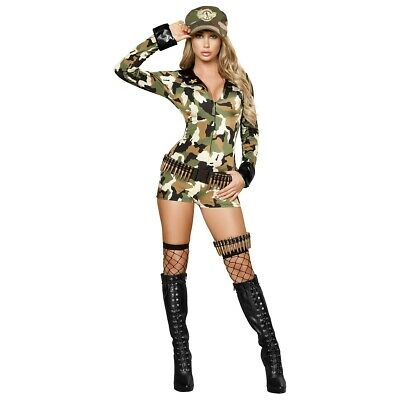 Sexy Soldier Military Costume Halloween Fancy Dress
