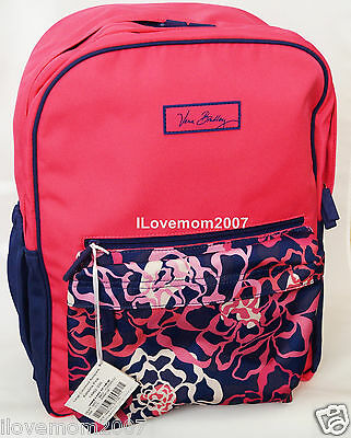AUTHENTIC Vera Bradley Large Colorblock BackPack Katalina Pink Blue w TAGS