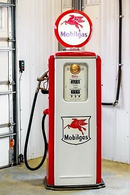 Mobilgas  Gas Pump Reproduction Replica Retro Mobil Oil Roadside Relics