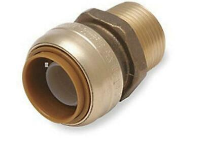 """Cash Acme SharkBite Male 3/4"""" Straight Connector Push To Connect U134LF Qty 12"""