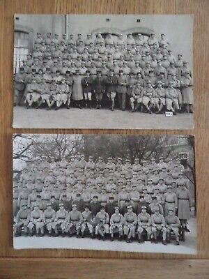2 ancienne carte photos militaire soldat