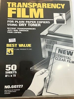Transparency Film for Plain Paper Copiers Using Dry Toner Best Value 8.5 x 11