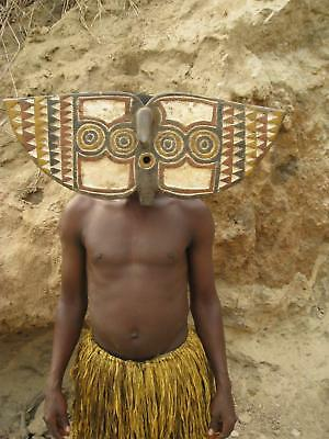 Fine Tribal Gallery - NT 2  Small Bwa Butterfly face Mask, Burkina Faso