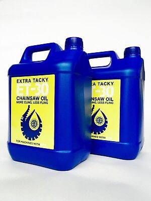 2 x 5 litres GATOR CHAINSAW OIL Chain Oil Guide Bar Pump for all Saws 100Cst