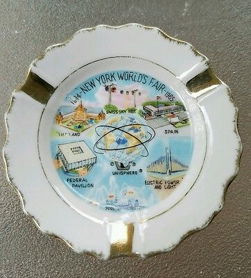 Vtg New York World's Fair 1964-1965 Unisphere Souvenir Cigarette Ashtray Japan