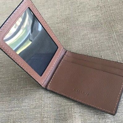 New Coach Men's Leather Slim Card  Id Case / Holder