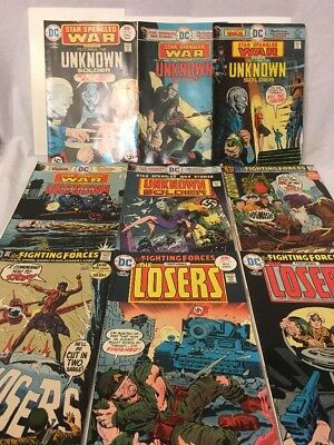 Bronze Age DC Comics Star Spangled War And The losers ( Lot Of 9 ) Fn+/VF-
