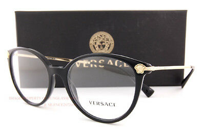 1ee78ea0a14f BRAND NEW VERSACE Eyeglass Frames 3251B GB1 Black For Women ...