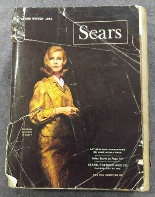 Vintage Sears catalog Fall and Winter 1963