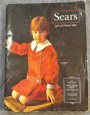 Vintage Sears catalog from Fall Winter 1965