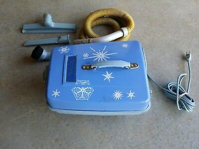 VINTAGE Shetland Lewyt Canister Vacuum Cleaner hose/attachments Snowflake  #2163