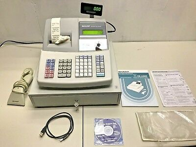 Sharp Xe-A505 Electronic Cash Register Programmable W/ Barcode Scanner Keys