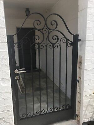 Pedestrian Gate Wrought Iron Adjustable 1.3m to 1.4m opening, 1.8m high In Stock