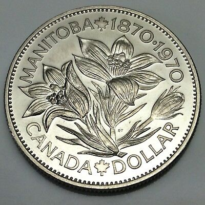 1970 Canada Manitoba Nickel One Dollar Canadian Coin Not In Case D887