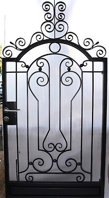 Pedestrian Gate Wrought Iron Adjustable 0.9m to 1.0m opening, 2.2m high In Stock