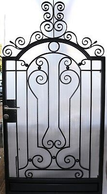 Pedestrian Gate Wrought Iron Adjustable 1.1m to 1.2m opening, 2.2m high In Stock