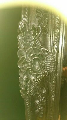 Superb & Very Stylish very Large Mirror In a silver glittered FrameVery heavy