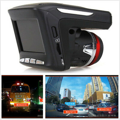 Car Radar Speed Detector Driving Recorder 2 In 1 Combo HD 1080P Dash Cam Camera