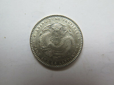 c1900s CHINA KWANGTUNG PROVINCE 20 Cents SILVER COIN in EXCELLENT UNC CONDITION