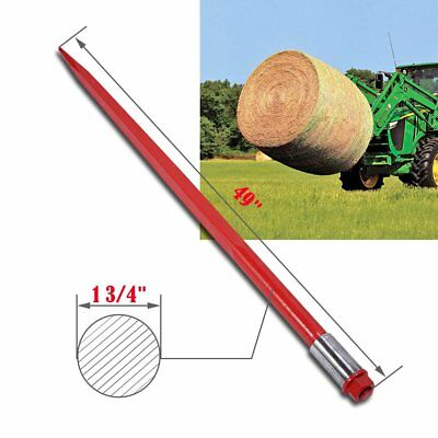"""49"""" 3000lbs Capacity Square Hay Bale Spear 1 3/4"""" wide with Nut + Sleeve Conus 2"""