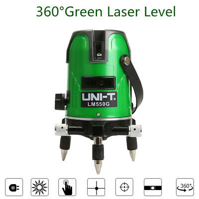 3D Red/Green Laser Level 5 Lines 360° Cross Auto Self-leveling Rotary Measure