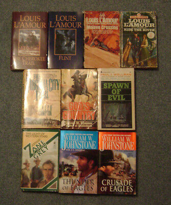 Lot of 10 Paperback Western Books various authors various titles