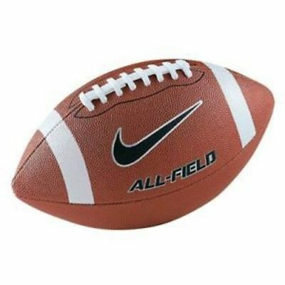 Nike All Field NFL Football Size 9 Brown Synthetic Gridiron