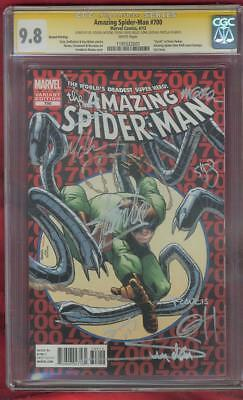 Amazing SPIDER MAN 700 CGC 9X SS 9.8 Stan Lee Ramos 9 Signed Top 1 2nd P Variant