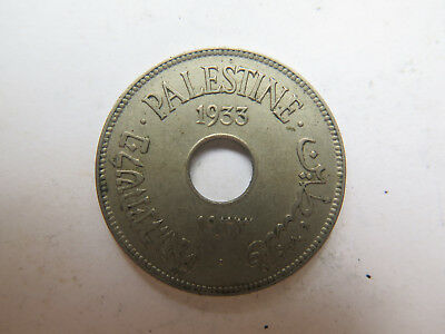 1933 Palestine Israel 10 Mil Cupro Nickel Coin Very Nice Collectable Condition