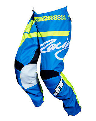 Youth MX Gear, JT Racing USA-2018 Youth Flex Hi-Lo Pants , Navy/Yellow