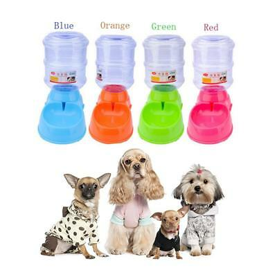 New Large Automatic Pet Food Drink Dispenser Dog Cat Feeder Water Bowl Dish .