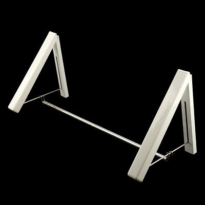 2 x Stainless Folding Wall Hanger Mount Retractable Clothes  Laundry Rack UK