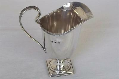 A Large Stunning Solid Sterling Silver Georgian Style Helmet Cream Jug Date 1933