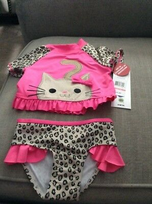 Girls size 18 months two-piece leopard print swimsuit retail $28