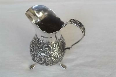 A Stunning Edwardian Solid Sterling Silver Helmet Shaped Cream Jug Dates 1905.