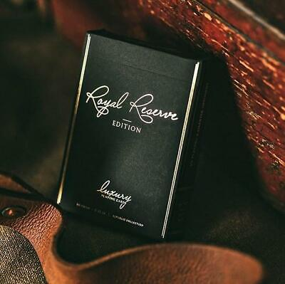 Black Royal Reserve Playing Cards Private Edition Luxury Rare deck