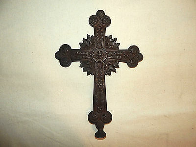 Ancient Bronze Cross, 19th Century, Very Detailed, Excellent Condition