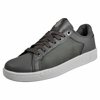 K-Swiss Mens Clean Court Classic Casual Memory Foam Retro Trainers Grey