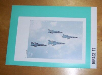 MIRAGE F1 JET COMBAT AIRCRAFT BROCHURE. Sept 1975. In French & English