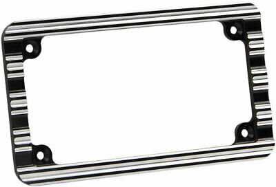 Arlen Ness - 12-136 - 10-Gauge License Plate Frame, Black
