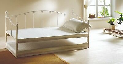 Rome Metal Day Beds Seconds*Mix Colours 2'6 Small Single 5 Available Black&Ivory