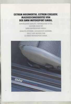 1992 BMW M3 Convertible M5 Brochure Poster English German French wy9859