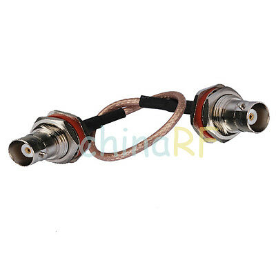 BNC female to BNC Jack bulkhead RF coaxial cable RG316 pigtail 15cm for Wireless